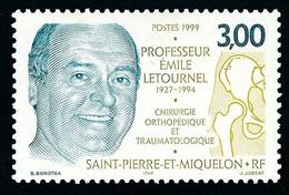 ST-PIERRE ET MIQUELON 1999 - Yv. 686 **   Faciale= 0,46 EUR - Professeur Emile Letournelc Chirurgien  ..Réf.SPM12200 - Neufs
