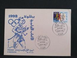 Algérie FDC Jeux Olympiques 1992 - Algeria (1962-...)