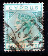 CYPRUS  QV   WMK  CC  1/2 PIASTRE  USED - Chipre (...-1960)