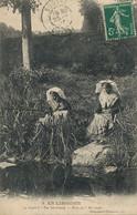 Peche à La Ligne En Limouin. . Angling . Belles Jeunes Filles En Coiffe . Occitan Poco ço ? Ah Ouah . De Bugeat Corrèze - Visvangst