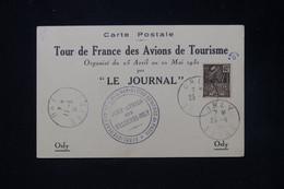 FRANCE - Carte Postale Du Tour De France Des Avions De Tourisme  En 1931 Avec Cachets - L 80662 - Luftpost