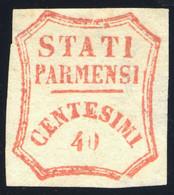 PARMA 1859 GOVERNO PROVVISORIO 40 CENT. VERMIGLIO N.17 POSIZIONE 3 NUOVO SENZA GOMMA - UNUSED WITHOUT GUM - Parma