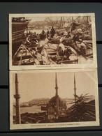 2 Cpa Constantinople. Dans La Corne D'or & Mosquée De Top-Hané Et Pointe Du Sérail - Turkey
