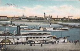 COLN A. Rh. (North Rhine-Westphalia), Germany, 1907 ; Blick Auf Deutz - Koeln