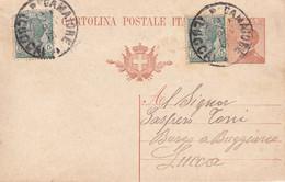 CAMAIORE - LUCCA - CARTOLINA POSTALE DA CENT.30 CON PARTENZA DA CAMAIORE IL 22/3/1925 PER BORGO A BUGGIANO - Altre Città