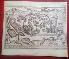Incisione Su Rame Avellino: Lacedonia Dal Pacichelli 1703 RARA (P357) - Prenten & Gravure