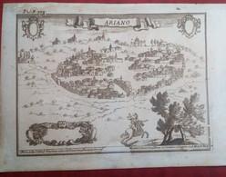Incisione Su Rame Avellino: Ariano Dal Pacichelli 1703 RARA (P358) - Prenten & Gravure