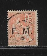 FRANCE  ( FRFM - 1 )  1901  N° YVERT ET TELLIER  N° 1 - Franchise Militaire (timbres)