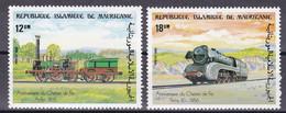 Mauretanien 1985 - Mi.Nr. 857 - 858 - Postfrisch MNH - Eisenbahnen Railways Lokomotiven Lococmotives - Trains