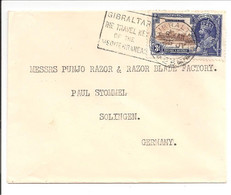 Gibraltar 1910-1935 3d To Solingen - Gibraltar