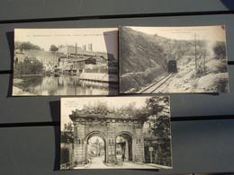 3 Cpa Environs De Verdun, Tunnel De Tavannes + Porte St-paul Et Vue Sur L'Echevéché - Verdun