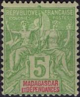 MADAGASCAR  42A ** MNH Type Groupe Colonies Françaises [colcla] (CV 5 €) 2 - Unused Stamps