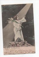 Enfant  Porte  Les  Glaieuls  ,  Nuit  , étoiles  Et  Rayon  De  Lune - Kindertekeningen
