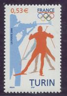 N° 3876 Jeux Olympiques à Turin 2006 Valeur Faciale 0,53 € - 2 Bandes De Phosphore à Droite - Curiosa: 2000-09 Postfris
