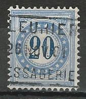 SBK P6 IIN, Mi 6II O Fleurier - Strafportzegels