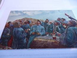 CARTE PATRIOTIQUE  PUBLICITAIRE  GUERRE 14/18    POILUS BUVANT DU DUBONNET - 1914-18