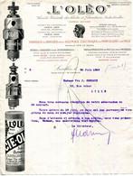 """LEVALLOIS-PERRET.AUTOMOBILE.FABRIQUE DE BOUGIES POUR ALLUMAGE ELECTRIQUE EN PORCELAINE & MICA """" L'OLEO """" - Auto's"""