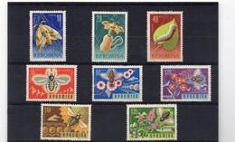 PDE 33 - ROMANIA 1963 , Serie N. 1944/1951 **  MNH Fiori Insetti - Nuevos