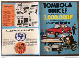 PUB PUBLICITE TINTIN HERGE  TOMBOLA UNICEF LIVRET COMPLET VOIR PHOTO - Collections