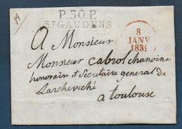 Haute Garonne - P.30.P. / ST GAUDENS  Sur Lettre De 1831 - 1801-1848: Precursori XIX
