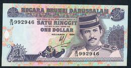 BRUNEI P13b 1 RINGGIT 1994 #B/16  UNC. - Brunei