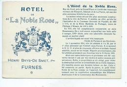 "Veurne Hôtel De "" La Noble Rose"" Restaurant - Café FURNES ( Licht Geplooid ) - Veurne"