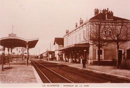 La Clayette Gare (Saône Et Loire) - Copie De Carte Postale 10 X 15 - Bahnhöfe Mit Zügen