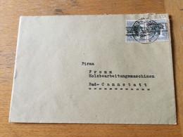 K12 Alliierte Besetzung Bizone 1948 Brief Von Limburg - Zona Anglo-Américan