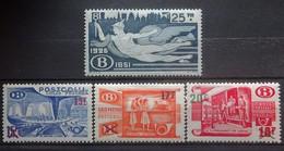 BELGIE Spoorwegen 1951-53    TR 330 /  TR 331 - 333     Scharnier *   CW  51,00 - 1942-1951