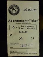 ABONNEMENT JOURNALIER / TICKET HEBDOMADAIRE : SKI _ ST MORITZ _ 1961 - Ohne Zuordnung