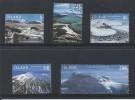Islande 2007 Série Complète  1095/1099 Oblitérés Glaciers - Oblitérés
