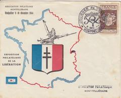 Lettre (Jounée Du Timbre 1944) Obl. Premier Jour Montpellier Le 2 Déc 44 Sur N° 668 (création De La Petite Poste) - Gedenkstempels