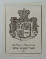 Ex-libris Héraldique Illustré 1900  - Russie ? - ALEXIS TROUBETZKOY - Ex-Libris