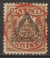Peru 1884 Sc J27  Postage Due MH Disturbed Gum - Pérou