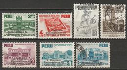 Peru 1951 Sc 447-53  Partial Set Used/MH - Pérou