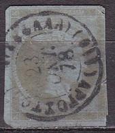 GREECE 1872-76  Large Hermes Meshed Paper Issue 40 L Olive Vl. 56 E - Gebruikt