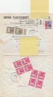 TAXE 85x4x2 Gerbes ANCIENS FRANCS + TAXE 92x2 Gerbes NOUVEAUX FRANCS - 1960-.... Cartas