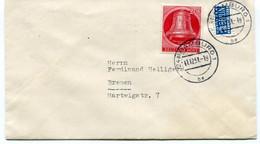 Berlin - 20 Pf Glocke Links Auf Brief - Cartas