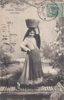 PALERMO-CATANIA-MESSINA-TRAPANI-AGRIGENTO-COSTUME SICILIANI-CONTADINA -CARTOLINA VIAGGIATA IL 22-6-1914 - Palermo