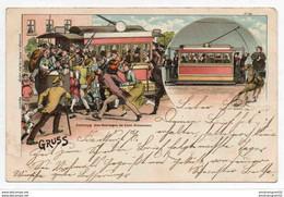 ALLEMAGNE TRAIN TRAMWAY GRUSS STRASSENBAHN 1898 - Tram