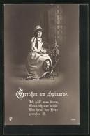 AK Szene Aus Goethes Faust, Gretchen Am Spinnrad - Fairy Tales, Popular Stories & Legends