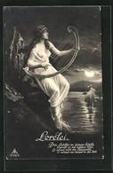 AK Loreley Betört Mit Ihrem Harfespiel Rheinschiffer - Fairy Tales, Popular Stories & Legends