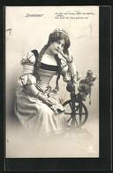 AK Szene Aus Goethes Faust, Sinnierendes Gretchen Am Spinnrad - Fairy Tales, Popular Stories & Legends