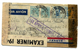 Luchtpost Brief Brazilië - Airmail Letter Brasil - Carta De Correio Aéreo 1943 - Cartas