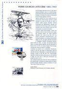 """"""" PIERRE-GEORGES LATECOERE """" Sur Document Philatélique Officiel 1er Jour De 2013. N° YT 4794. DPO - Flugzeuge"""
