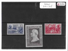 FRANCE  -  TIMBRES  SERIE   N°  606  à  608  -  (  Neufs  Sans    Charnière  ) - Unused Stamps