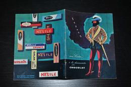 Plaquette Publicitaire NESTLE Avec Cortez à La Découverte Du Chocolat PUB PINGO Dinky Toys Galak Crunch Publicité 1961 - Publicidad