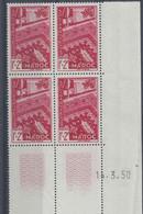 MAROC N° 288 - SOLIDARITE - Bloc De 4 COIN DATE - NEUF SANS CHARNIERE - 14/3/50 - 1950-1959