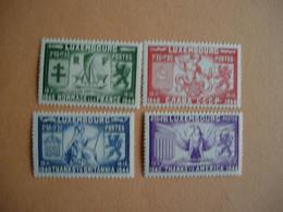 Luxembourg 356/59** (M. 343/46) . Hommage à La France, USA, Russie Et Grande Bretagne - Unused Stamps