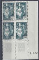 MAROC N° 289 - SOLIDARITE - Bloc De 4 COIN DATE - NEUF SANS CHARNIERE - 14/3/50 - 1950-1959